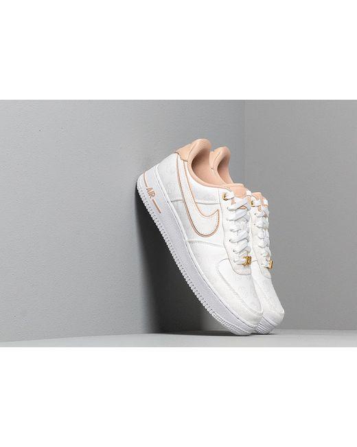 68fd2bc59a Lyst - Nike Wmns Air Force 1 '07 Lx White/ Bio Beige-white-metallic ...