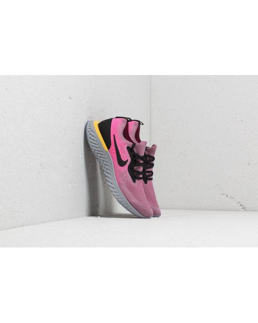 740a4e5a566 Lyst - Nike Epic React Flyknit (gs) Plum Dust  Black-pink Blast in Pink