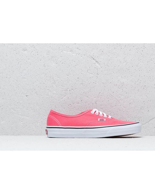 a0e8e3a637 ... Vans - Authentic Strawberry Pink  Truewhite - Lyst ...