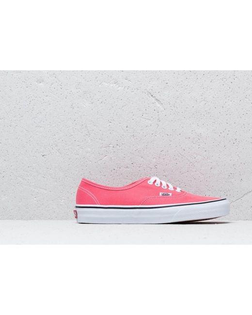 45519133fe ... Vans - Authentic Strawberry Pink  Truewhite - Lyst ...