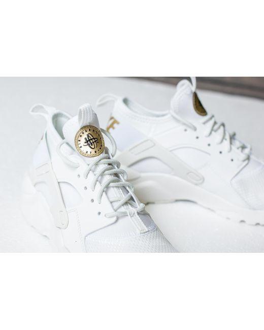 buy popular b5045 e287d nike air huarache run ultra gs summit white metallic gold