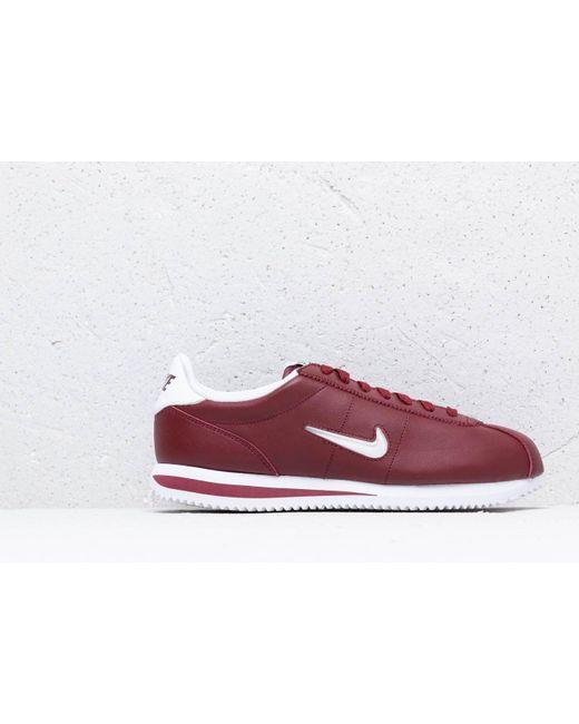 4323b0b2b7e91 ... Nike - Cortez Basic Jewel Dark Team Red  White for Men - Lyst ...