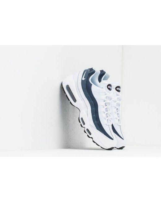 cf2067cb37 Nike - Air Max 95 Essential White/ White-midnight Navy-monsoon Blue for ...