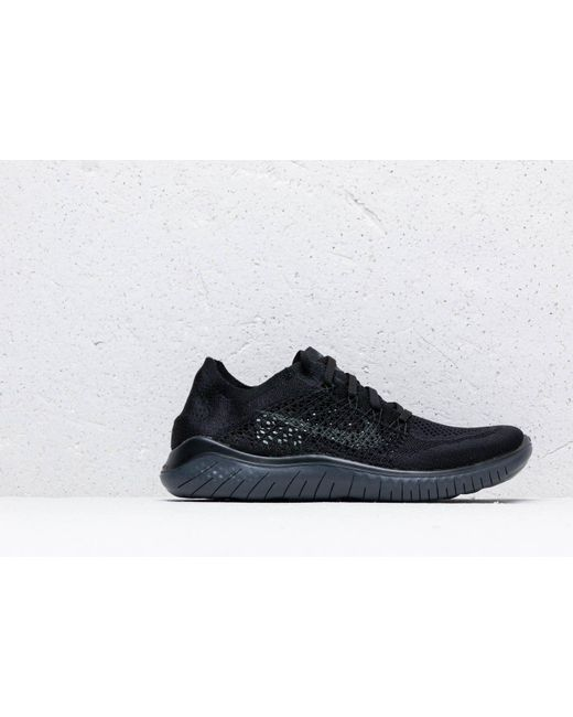 8e94102112e0a ... Nike - Free Rn Flyknit 2018 Black  Anthracite for Men - Lyst ...