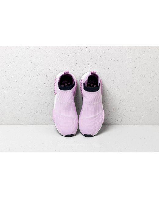 new concept c7fe6 8c67f ... Adidas Originals - Purple Adidas Nmdcs1 Primeknit W Clear Lilac Clear  Lilac Legend Ink ...