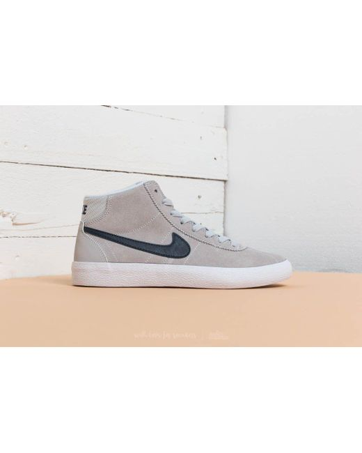 ... Nike - Wmns Sb Bruin Hi Pure Platinum/ Obsidian-white - Lyst ...