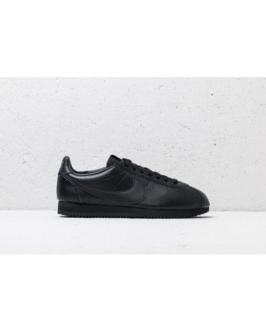 reputable site 0e4d4 93f51 ... Nike - Classic Cortez Leather Black  Black-anthracite for Men - Lyst ...