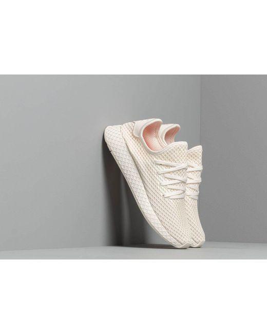 8bef0b131162f Adidas - White Deerupt Runner Shoes for Men - Lyst ...