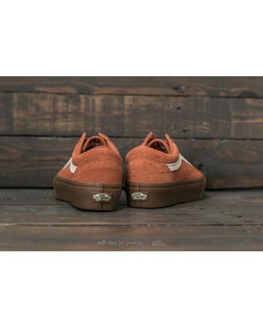 Vans Old Skool Platform (Croc Suede) Amber / Gum iTMaoxTS3