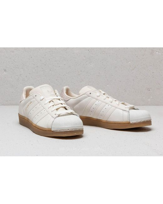 ... Adidas Originals - Adidas Superstar W Cloud White  Cloud White  Gum4 -  Lyst 16e8ae4e0d19