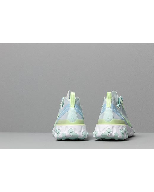 765064e5fe13 ... Nike - W React Element 55 White  Frosted Spruce-barely Volt - Lyst ...