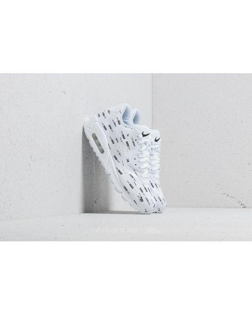 Lyst - Nike Air Max 90 Premium White  White-black in White for Men 7fbbc3f71