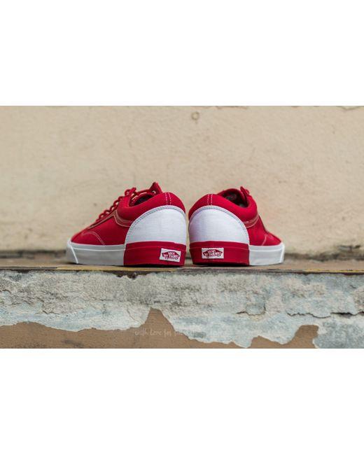 vans old skool dx red