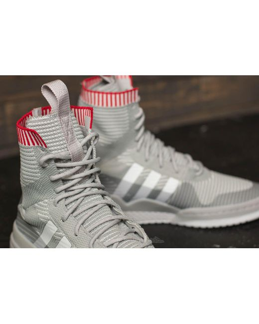 adidas Forum Winter Primeknit Grey Two/ Ftw White/ Scarlet