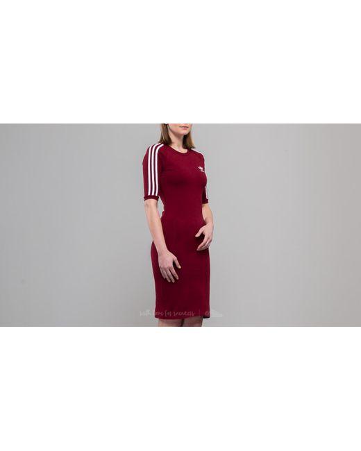 Lyst adidas Originals Adidas 3 Stripes Dress Collegiate Borgoña