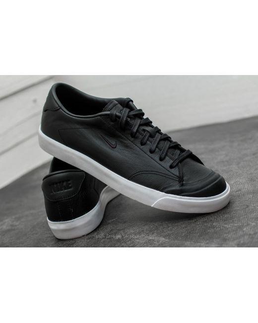 9cd0eaea8c ... Nike - All Court 2 Low Leather Black  Black-white for Men - Lyst ...