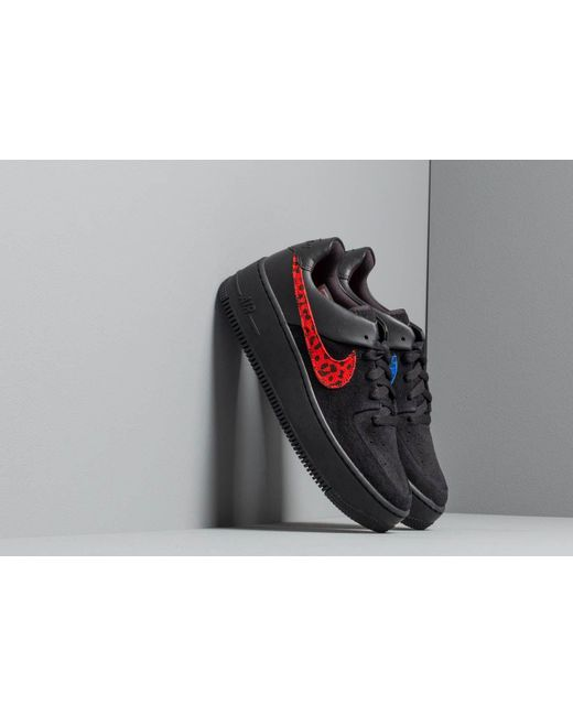 premium selection bdaff 42913 Nike - Multicolor W Air Force 1 Sage Lo Prm Black  Habanero Red-racer ...