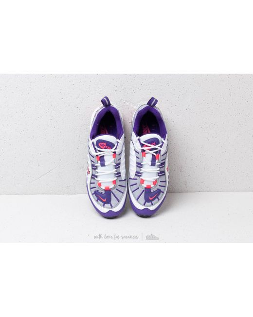 452648da13b Lyst - Nike W Air Max 98 White  Racer Pink-reflect Silver-black in White