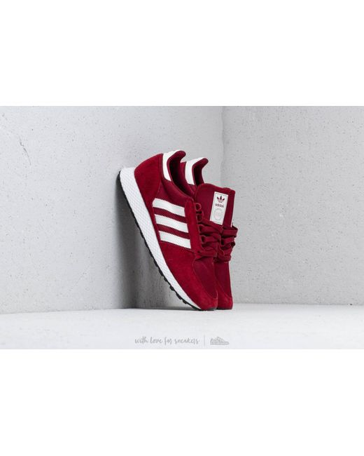 newest adc51 970f3 Adidas Originals - Red Adidas Forest Grove Cburgundy Cloud White Core  Black for Men ...
