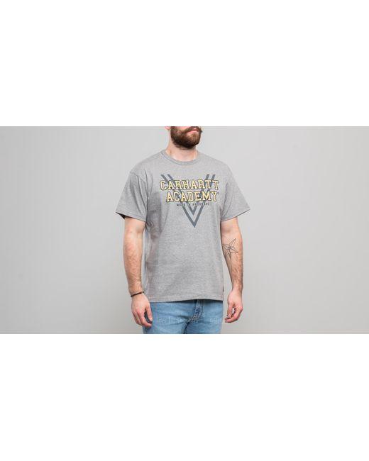 Carhartt WIP - Gray Shortsleeve Academy T-shirt Grey Heather for Men - Lyst