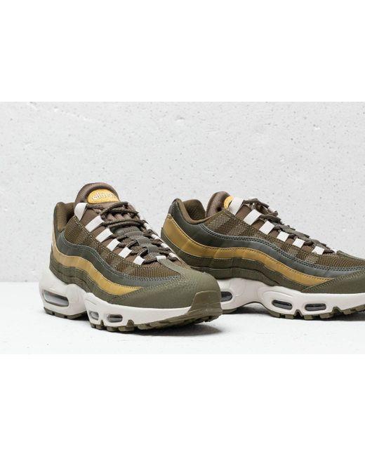 a2a6229b20 ... Nike - Green Air Max 95 Essential Olive Canvas/ Light Bone for Men -  Lyst