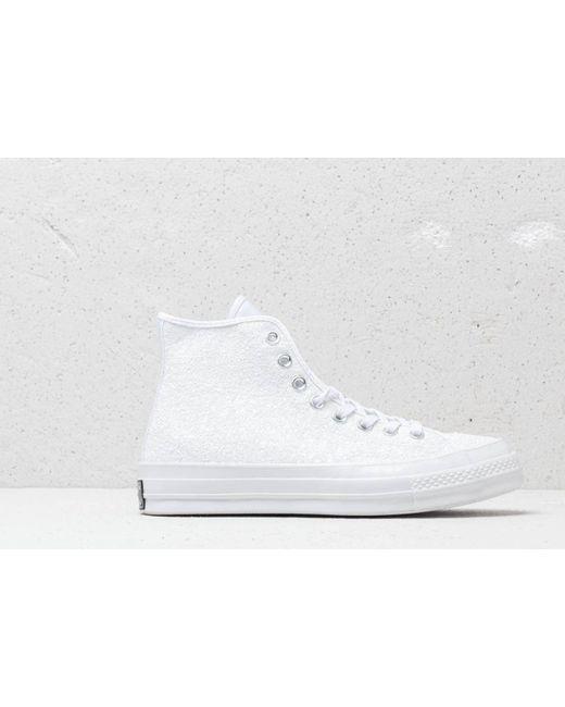 15db333c5004 ... Converse - Chuck Taylor All Star 70 Hi White  Silver  White - Lyst ...