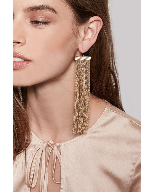 Forever 21 - Metallic Waterfall Tassel Duster Earrings - Lyst