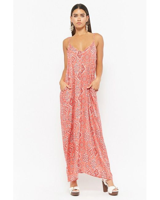 Forever 21 - Red Paisley Print Maxi Dress - Lyst