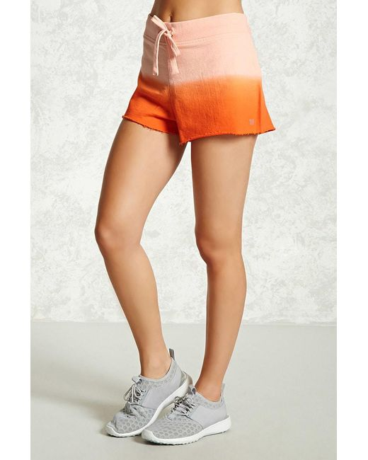 Forever 21 - Orange Women's Active Ombre Shorts - Lyst