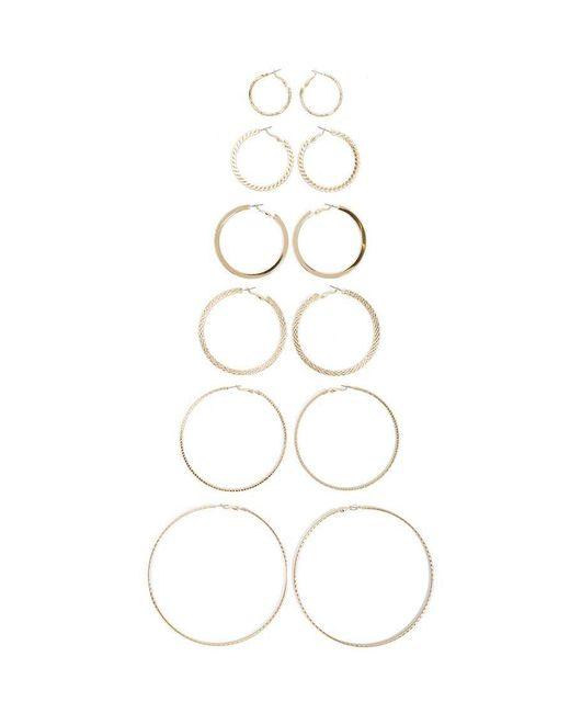 Forever 21 - Metallic Hoop Earrings Set - Lyst