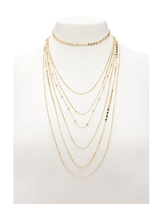 Forever 21   Metallic Layered Necklace Set   Lyst
