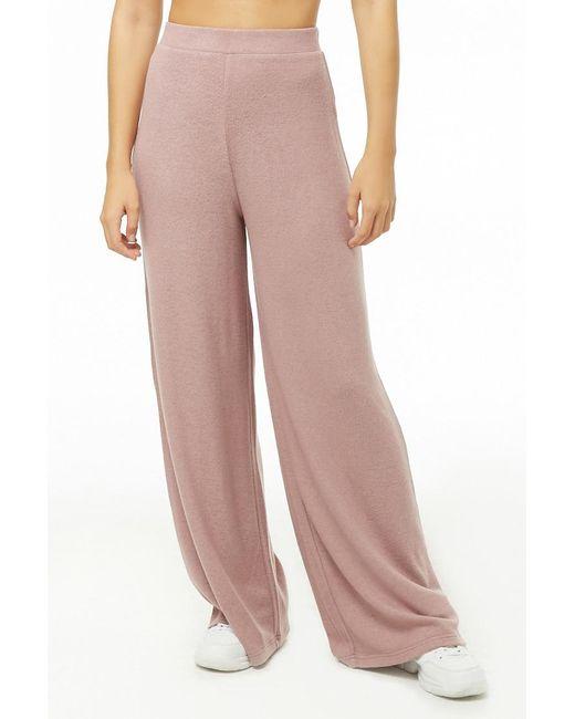 baf15e8ef043 ... Forever 21 - Multicolor Wide-leg Fleece Sweatpants - Lyst