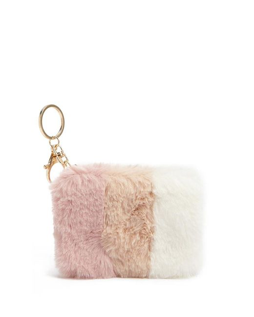Forever 21 - Pink Faux Fur Coin Purse - Lyst