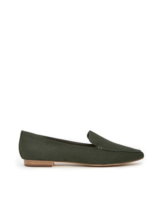 Forever 21 - Green Faux Suede Loafers - Lyst