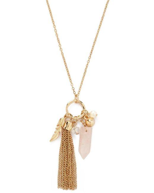 Forever 21 | Metallic Longline Tassel Pendant Necklace | Lyst