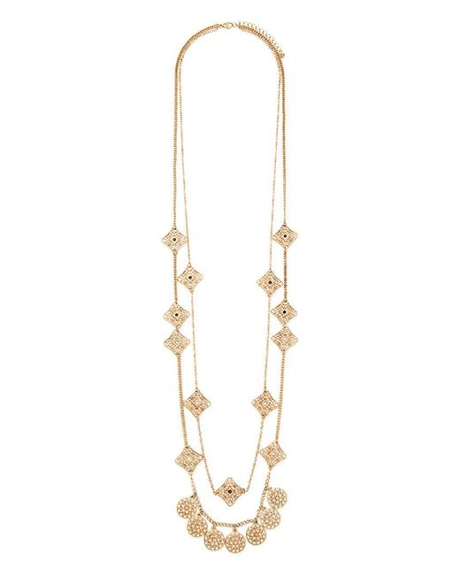 Forever 21 | Metallic Filigree Charm Layered Necklace | Lyst