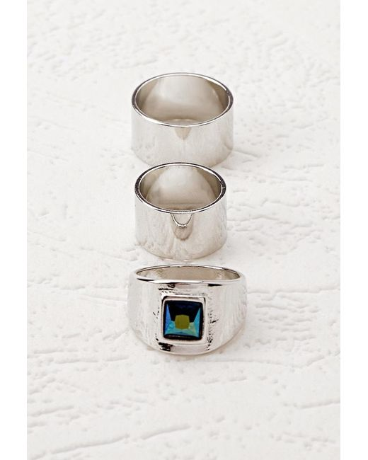 Forever 21   Metallic Faux Gemstone Ring Set   Lyst