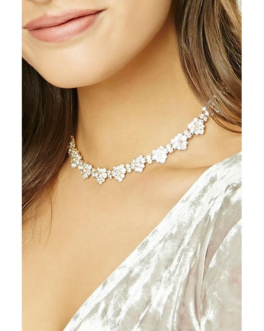 Forever 21 | Metallic Heart Collar Necklace | Lyst
