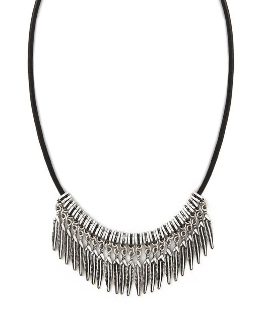Forever 21   Metallic Etched Feather Choker   Lyst