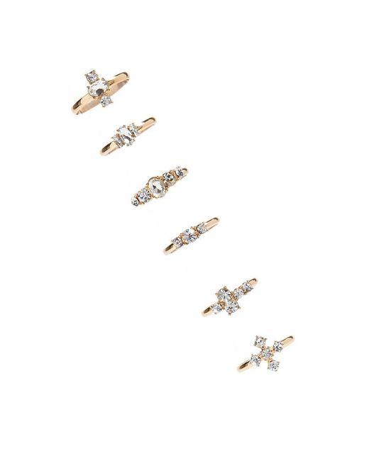 Forever 21 - Metallic Rhinestone Cluster Ring Set - Lyst