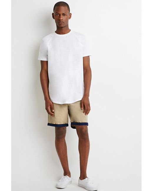 Forever 21 - Brown Contrast-cuff Shorts for Men - Lyst