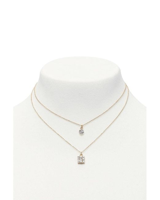 Forever 21 | Metallic Layered Charm Necklace | Lyst