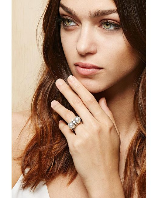 Forever 21 - Metallic Amber Sceats Thunderball Ring - Lyst