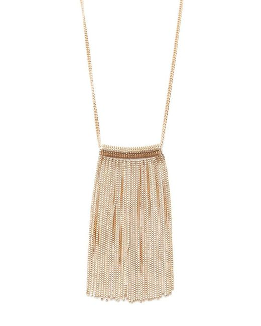 Forever 21 - Metallic Chain Fringe Necklace - Lyst