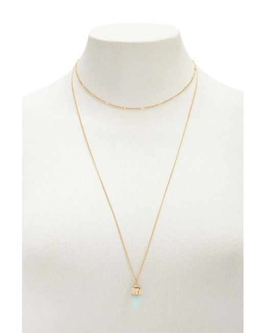 Forever 21 - Metallic Layered Pendant Necklace - Lyst