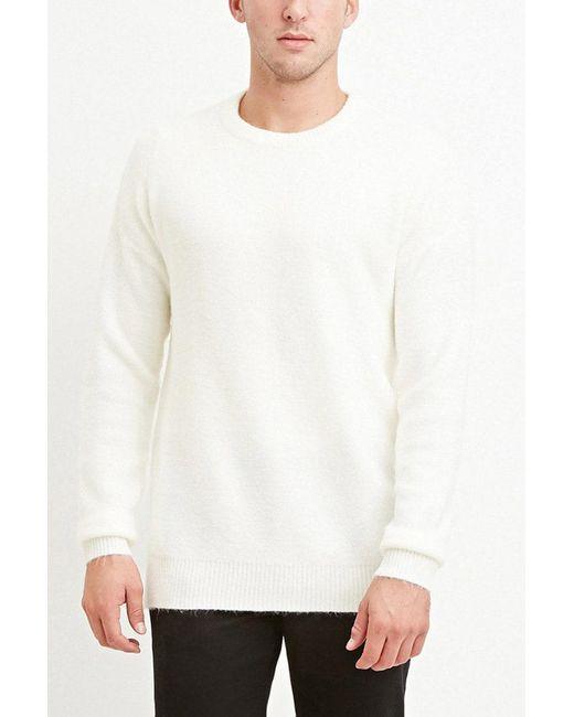 Forever 21 | White Dropped-sleeve Sweater for Men | Lyst