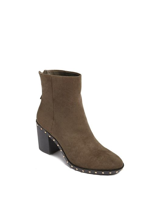 Forever 21 - Green Faux Suede Studded Ankle Boots - Lyst