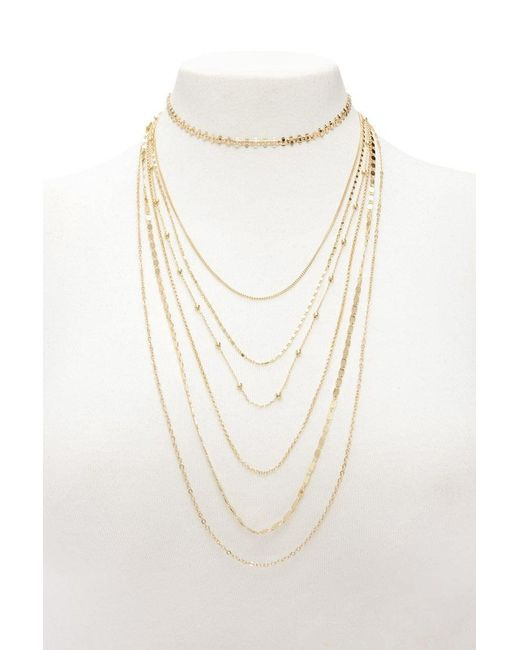 Forever 21 - Metallic Women's Layered Necklace Set - Lyst