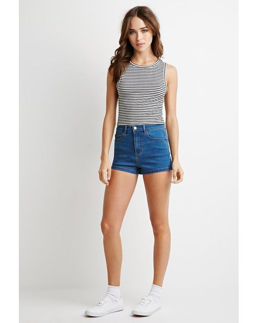 Forever 21 | Gray Striped Top | Lyst