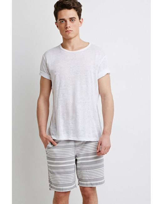 Forever 21 | Gray Mixed Stripe Shorts for Men | Lyst